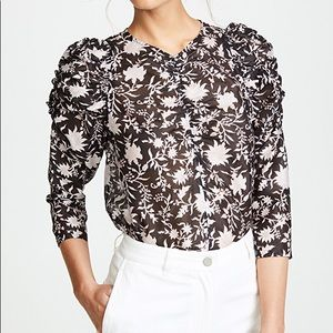 NWT Ulla Johnson Posey Blouse in Midnight, 0